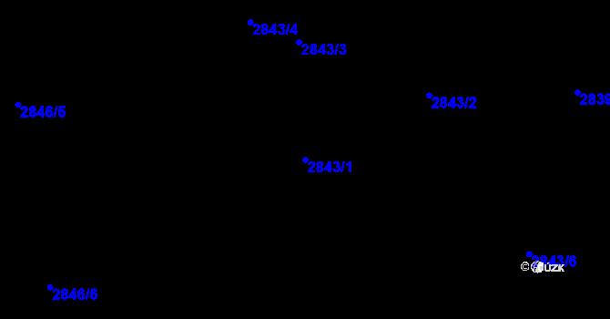 Parcela st. 2843/1 v k.ú. Černovice, Katastrální mapa