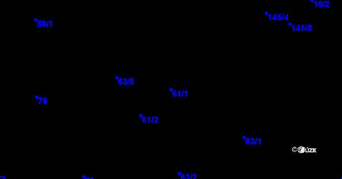 Parcela st. 61/1 v k.ú. Černovice, Katastrální mapa