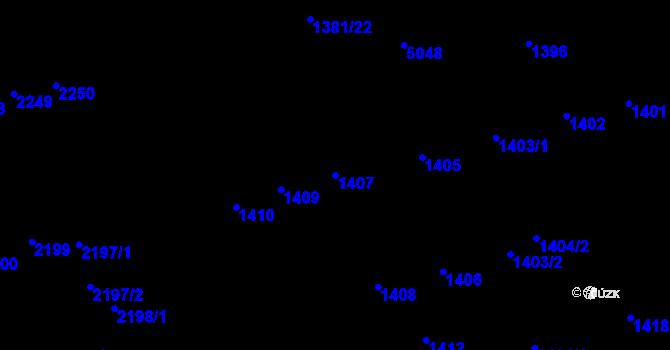 Parcela st. 1407 v k.ú. Královo Pole, Katastrální mapa