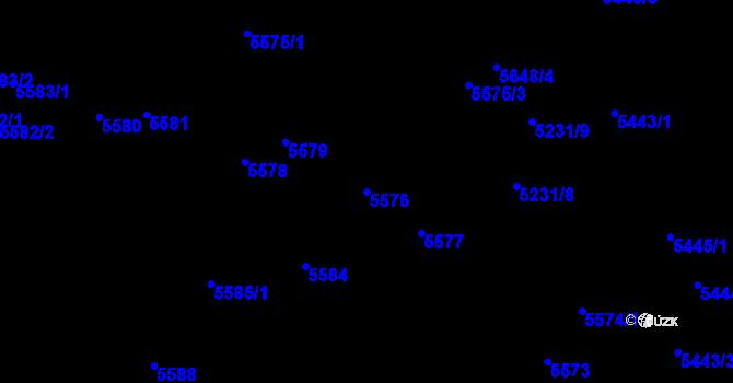 Parcela st. 5576 v k.ú. Bystrc, Katastrální mapa