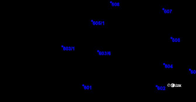 Parcela st. 603/6 v k.ú. Přízřenice, Katastrální mapa