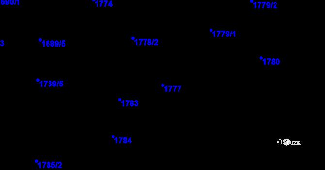 Parcela st. 1777 v k.ú. Slatina, Katastrální mapa