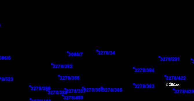 Parcela st. 3278/24 v k.ú. Líšeň, Katastrální mapa