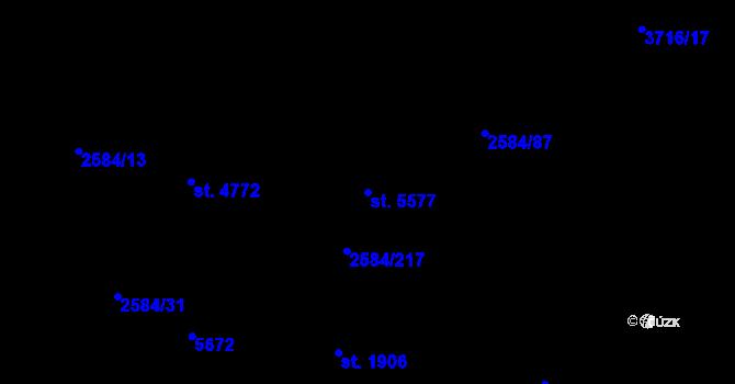 Parcela st. 5577 v k.ú. Břeclav, Katastrální mapa