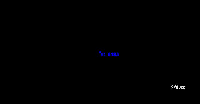 Parcela st. 6183 v k.ú. Břeclav, Katastrální mapa