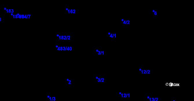 Parcela st. 3/1 v k.ú. Březno u Chomutova, Katastrální mapa