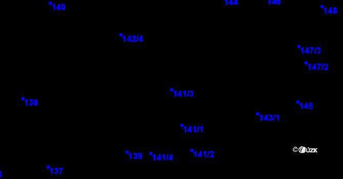 Parcela st. 141/3 v k.ú. Březno u Chomutova, Katastrální mapa