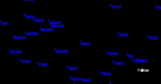 Parcela st. 483/7 v k.ú. Březno u Chomutova, Katastrální mapa