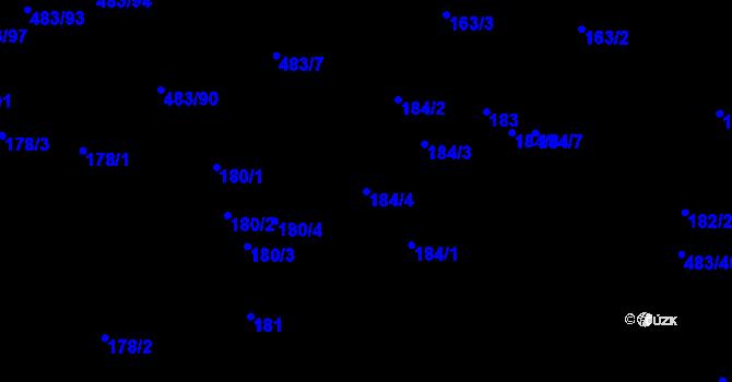 Parcela st. 184/4 v k.ú. Březno u Chomutova, Katastrální mapa