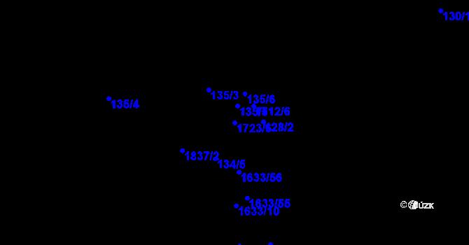 Parcela st. 1723/6 v k.ú. Bukovany u Kyjova, Katastrální mapa