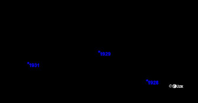 Parcela st. 1929 v k.ú. Buřenice, Katastrální mapa
