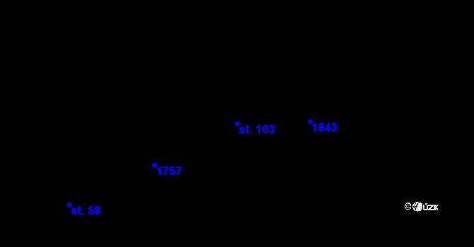 Parcela st. 103 v k.ú. Velký Rapotín, Katastrální mapa