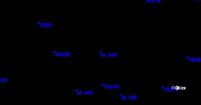 Parcela st. 520 v k.ú. Sedlčánky, Katastrální mapa