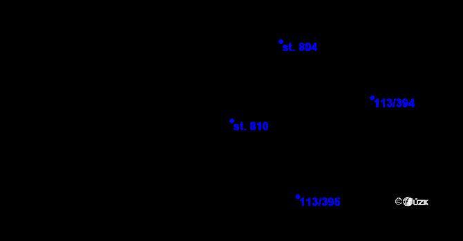 Parcela st. 810 v k.ú. Čepirohy, Katastrální mapa