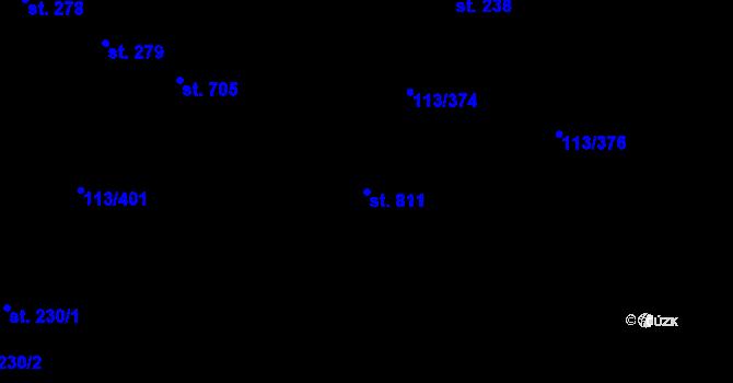 Parcela st. 811 v k.ú. Čepirohy, Katastrální mapa