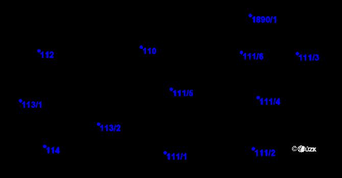 Parcela st. 111/5 v k.ú. Černice, Katastrální mapa
