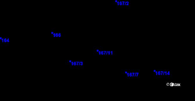Parcela st. 167/11 v k.ú. Stará Lípa, Katastrální mapa