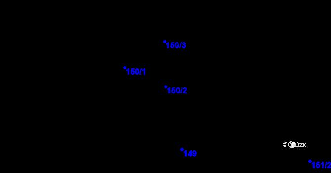 Parcela st. 150/2 v k.ú. Dolní Libchava, Katastrální mapa