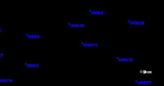 Parcela st. 1956/11 v k.ú. České Budějovice 2, Katastrální mapa