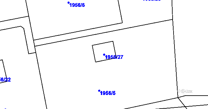 Parcela st. 1956/27 v k.ú. České Budějovice 2, Katastrální mapa