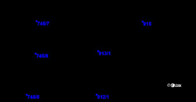 Parcela st. 913/1 v k.ú. České Budějovice 3, Katastrální mapa