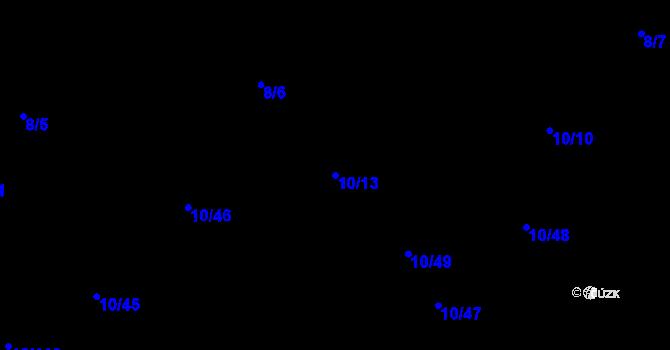 Parcela st. 10/13 v k.ú. České Budějovice 4, Katastrální mapa