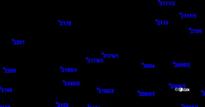 Parcela st. 2179/1 v k.ú. České Budějovice 5, Katastrální mapa