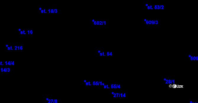 Parcela st. 54 v k.ú. Davle, Katastrální mapa