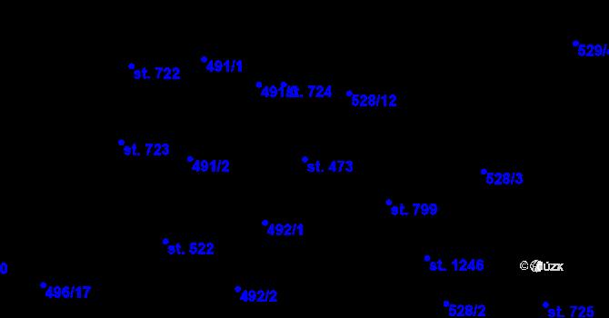 Parcela st. 473 v k.ú. Davle, Katastrální mapa