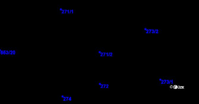 Parcela st. 271/2 v k.ú. Děhylov, Katastrální mapa