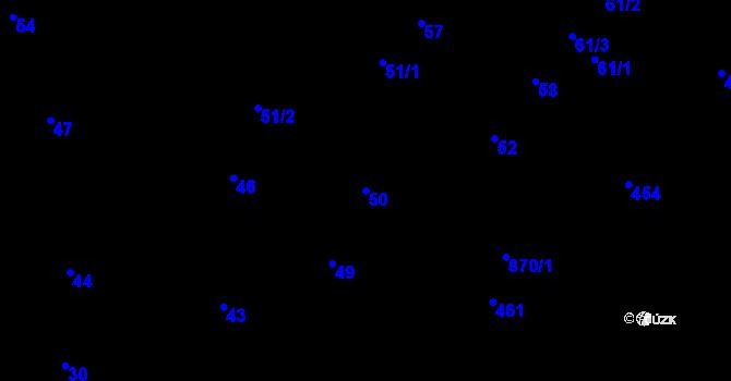 Parcela st. 50 v k.ú. Děhylov, Katastrální mapa