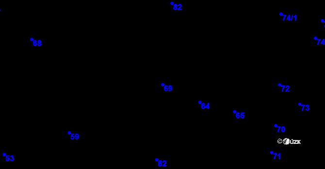 Parcela st. 69 v k.ú. Děhylov, Katastrální mapa