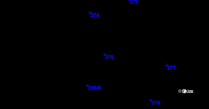 Parcela st. 276 v k.ú. Děhylov, Katastrální mapa