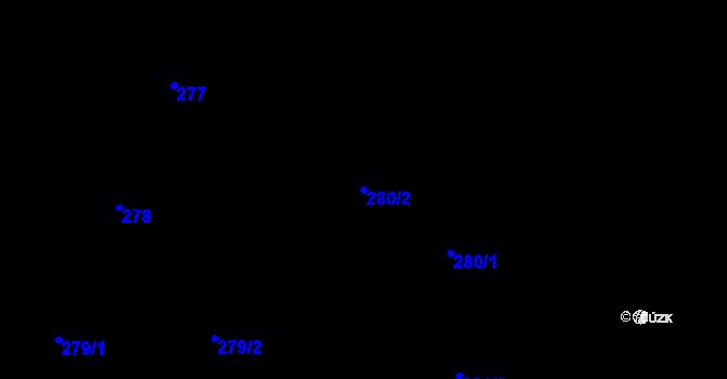 Parcela st. 280/2 v k.ú. Děhylov, Katastrální mapa