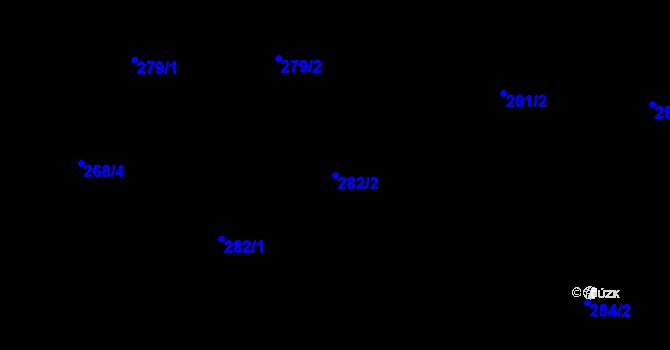Parcela st. 282/2 v k.ú. Děhylov, Katastrální mapa