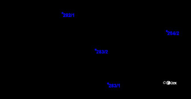 Parcela st. 283/2 v k.ú. Děhylov, Katastrální mapa