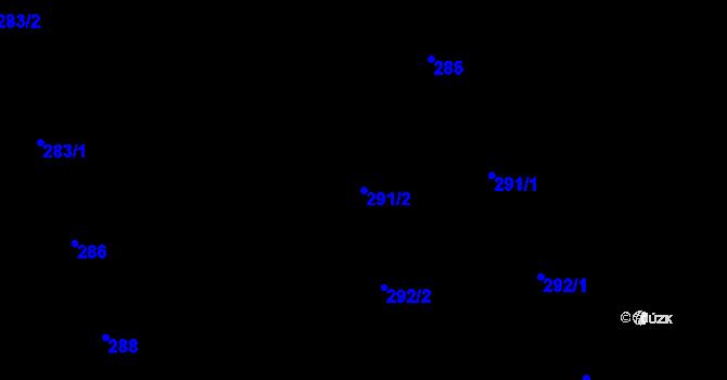 Parcela st. 291/2 v k.ú. Děhylov, Katastrální mapa