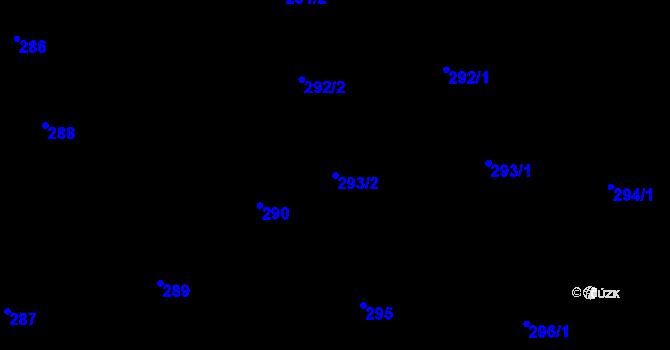Parcela st. 293/2 v k.ú. Děhylov, Katastrální mapa
