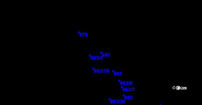 Parcela st. 680 v k.ú. Děhylov, Katastrální mapa