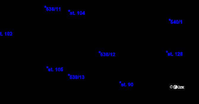 Parcela st. 538/12 v k.ú. Nové Městečko, Katastrální mapa
