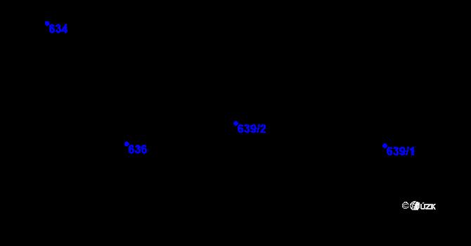 Parcela st. 639/2 v k.ú. Dolní Datyně, Katastrální mapa