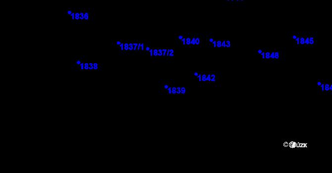 Parcela st. 1839 v k.ú. Dolní Lutyně, Katastrální mapa