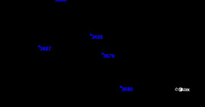 Parcela st. 3679 v k.ú. Dolní Lutyně, Katastrální mapa