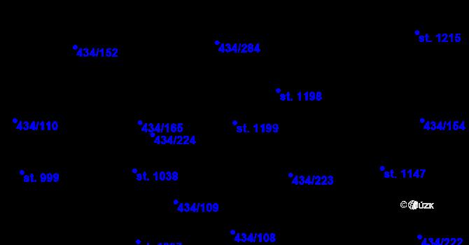 Parcela st. 1199 v k.ú. Doubí u Karlových Var, Katastrální mapa