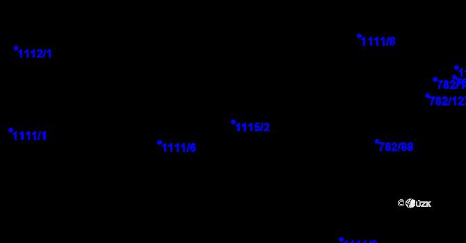 Parcela st. 1115/2 v k.ú. Doubí u Liberce, Katastrální mapa
