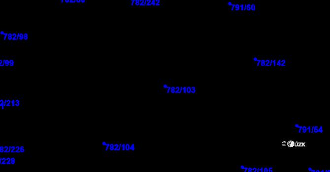 Parcela st. 782/103 v k.ú. Doubí u Liberce, Katastrální mapa