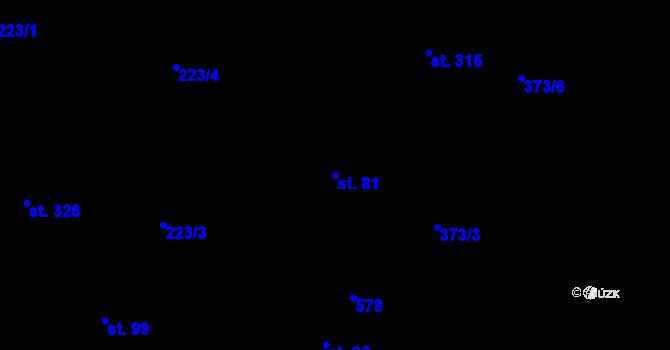 Parcela st. 81 v k.ú. Dražkovice, Katastrální mapa