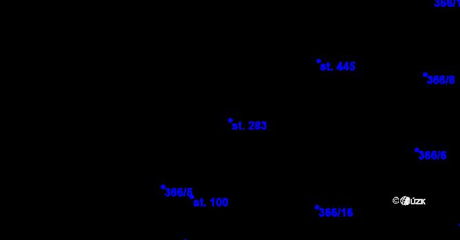 Parcela st. 283 v k.ú. Dražkovice, Katastrální mapa