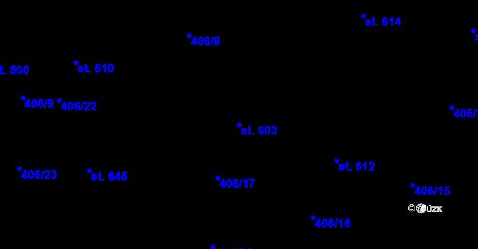 Parcela st. 603 v k.ú. Dražkovice, Katastrální mapa