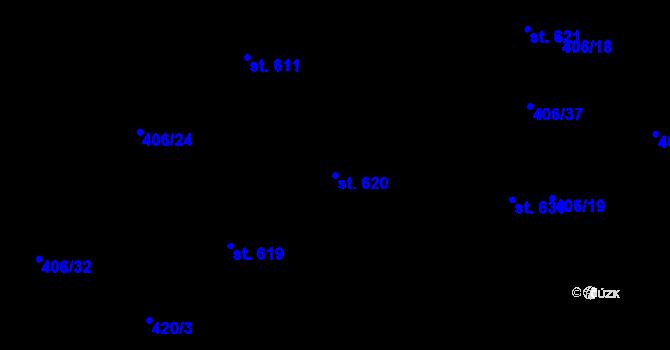 Parcela st. 620 v k.ú. Dražkovice, Katastrální mapa